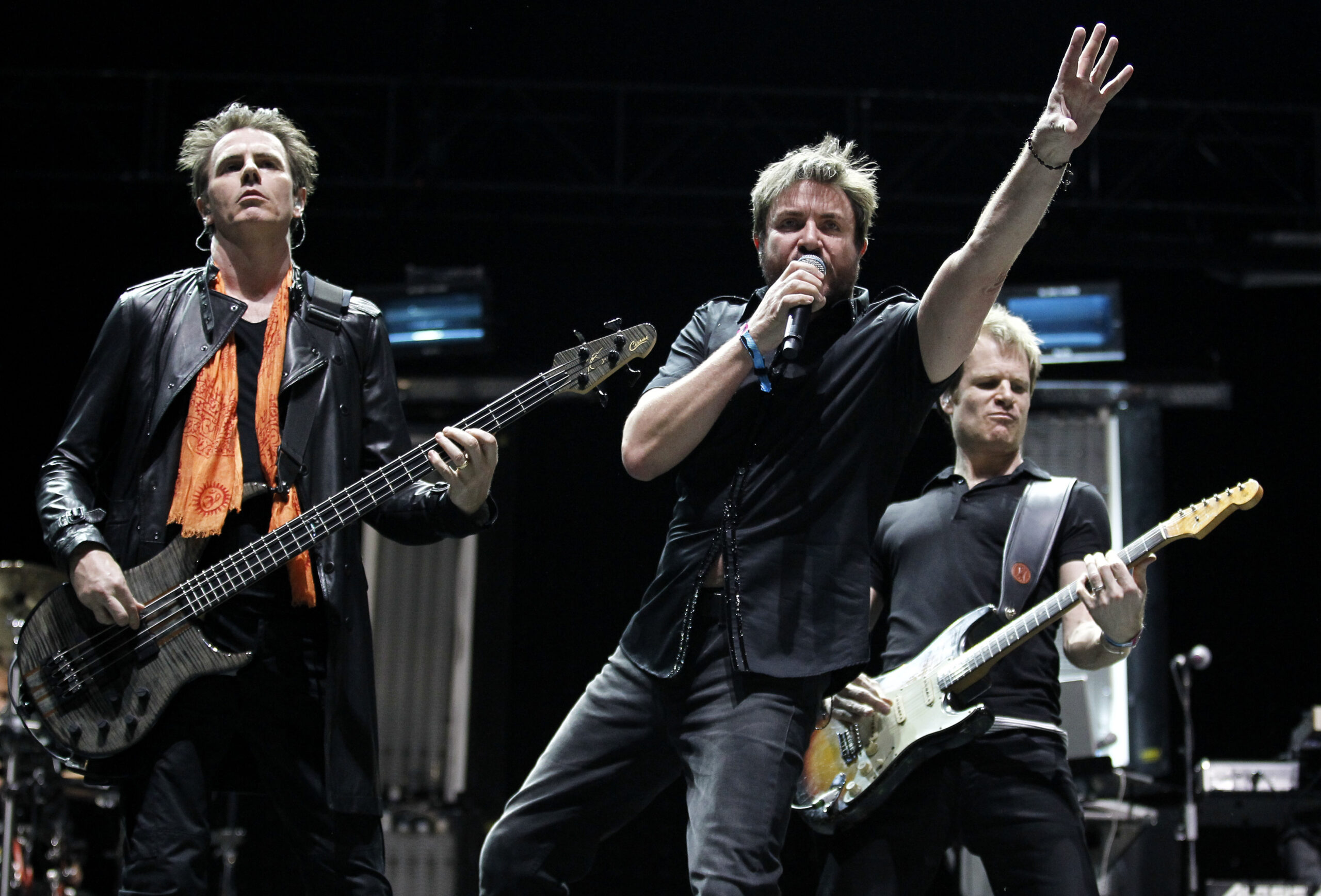 The British band Duran Duran perform during the last day of the Coachella Valley Music & Arts Festival in Indio