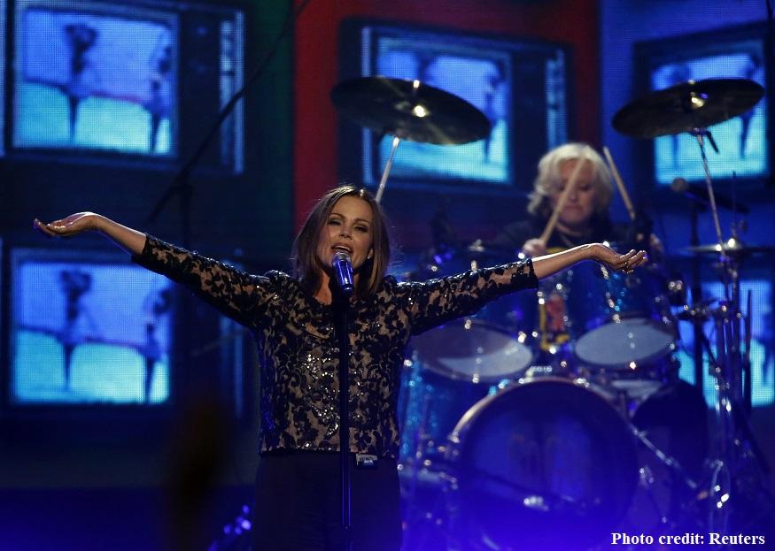 "Belinda Carlisle of The Go-Go's performs ""We Got The Beat"" at the 2016 Billboard Awards in Las Vegas"
