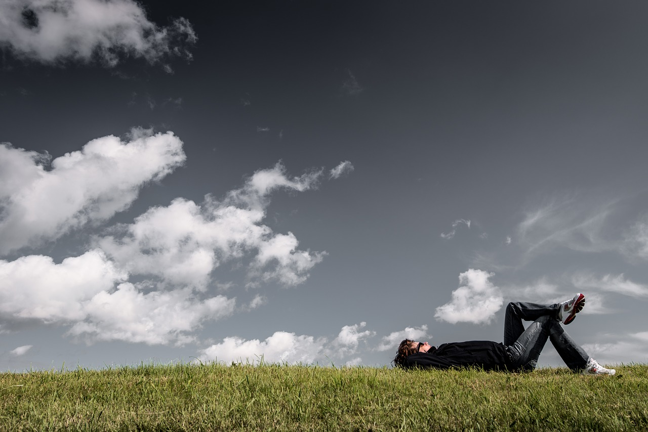 grass sky relaxation